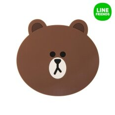 ขาย Two Face Silicon Cup Coaster Brown Line Friends
