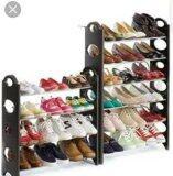 ขาย Two7 Shop ชั้นวางรองเท้าสแตนเลส 10 ชั้น พร้อม ผ้าคลุม สีครีม Two 7 Shop เป็นต้นฉบับ
