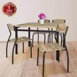 ซื้อ U Ro Decor ชุดโต๊ะรับประทานอาหาร โต๊ะ 1 เก้าอี้ 4 ตัว รุ่น Sonoma Oak Brown Leg