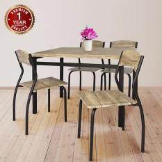 ซื้อ U Ro Decor ชุดโต๊ะรับประทานอาหาร โต๊ะ 1 เก้าอี้ 4 ตัว รุ่น Sonoma Oak Brown Leg ออนไลน์ นนทบุรี