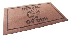 ขาย ซื้อ U Ro Decor Beware Of Dog พรม ดักฝุ่นลายระวังสุนัขดุ ขนาด 45 X 75 ซม สีน้ำตาล นนทบุรี