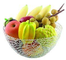 ราคา U Ro Decor ตะกร้าผลไม้ รุ่น Fruity C สีเงิน ใน นนทบุรี