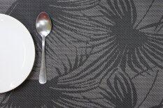 ซื้อ U Ro Decor ที่รองจาน แบบทอ รุ่น Lena สีเทา ดำ 4ชิ้น 1ชุด