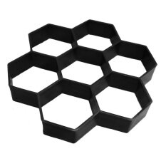 Uinn Hexagon Garden Driveway Walkway Paving Pavement Stepping Plastic Brick Mould Black Intl ใหม่ล่าสุด