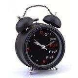 ขาย ซื้อ Ujs Classic Number English Retro Double Bell Desk Table Alarm Clock Black Intl จีน