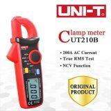 ราคา ราคาถูกที่สุด Uni T Ut210B 200A Ac Current Clamp Meter True Rms Digital Testers With Ncv Max Min Backlight Data Hold Function Intl