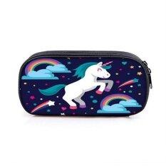 ส่วนลด Unicorn Chic Large Capacity Cute Pen Pencil Case Sch**l Stationery Cosmetic Bag
