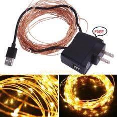 ราคา Usb Connector String Fairy Lights 10M 33Ft 100 Led Garland Copper Wedding Deco เป็นต้นฉบับ