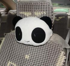 ความคิดเห็น Vanker 1ชิ้นคอการ์ตูนแพนด้านั่งรถนอนหมอนสุ่ม ขาวสีดำ
