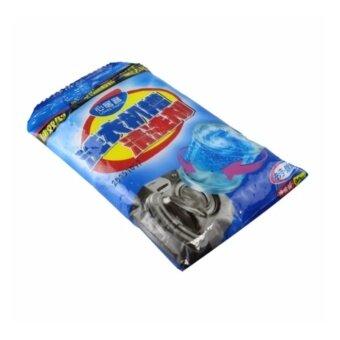 VAUKO : ผงล้างทำความสะอาดถังเครื่องซักผ้า ใช้กับเครื่องซักผ้าแบบฝาหน้า ฝาบน แบบซอง สีน้ำเงิน ผงสีขาว 90 กรัมต่อถุง รุ่น WASHING DRUM CLEANNER-1 จำนวน 1 ถุง