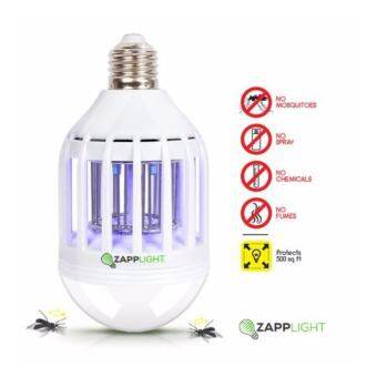 VAUKO : CLK ZAPP LIGHT-001 หลอดแสงสว่าง 600 ลูเมน หลอดประหยัดไฟ LED แบบ 2 in 1 เป็นหลอดไฟ และหลอดกำจัดแมลง ยุง ขนาด 60 Watt ใช้ภายในและภายนอกบ้าน จำนวน 1 หลอด ปลอดภัย ไร้ฟูม ไร้สารเคมี ไร้สเปรย์ ไร้การฉีดพ่น ไม่มีสารตะกั่ว-