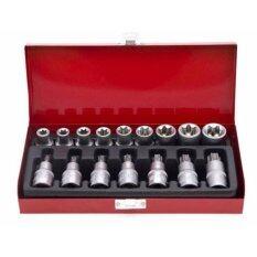 Vauko : Torx Socket Set ชุดบล็อคท๊อกซ์ หัวจม และเดือยโผล่ เกรด Crv 16ตัว/ชุด รุ่น Torx Set-16.