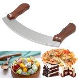 โปรโมชั่น Vegetable Herb Mezzaluna Cutter Slicer Chopper Blade Knife Cutting Chopping Tool Intl Unbranded Generic