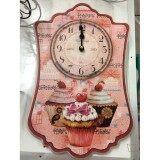 ซื้อ Vimata Vintage นาฬิกาติดผนังสไตล์วินเทจ ลายคัพเค๊ก รหัส C 19 1 ออนไลน์ กรุงเทพมหานคร