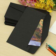 ขาย Vintage Blank Mini Paper Window Envelopes Wedding Invitation Envelope Gift Envelope Black 220X110Mm ใน Thailand
