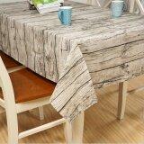 ขาย ซื้อ Vintage Wooden Grain Tablecloth Washable Rectangular Linen Table Cloth 70Cm 70Cm
