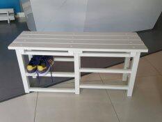 ราคา Vinyl Creation เก้าอี้ชั้นวางรองเท้า ถอดประกอบได้ สีขาว ขนาด 97 5 X 32 X 46 Cm ที่สุด