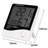 Vip Digital Lcd Thermometer Hygrometer Temperature Humidity Meter Gauge Alarm Clock White เป็นต้นฉบับ