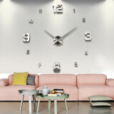 Vococal Modern Diy Large 3D Wall Sticker Clock For Home Office Decoration ถูก