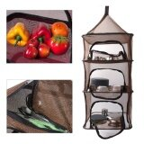 ราคา Voogol Reusable Drying Hanging Rack Net 4 Layer Outdoor Round Folding Camping Dry Net Picnic Tableware Fruit And Vegetable Hanging Storage Mesh Basket Black Intl ออนไลน์