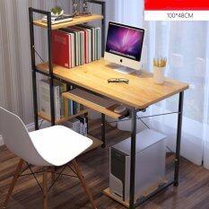 ซื้อ Vv โต๊ะคอมพิวเตอร์โครงเหล็ก ชั้นวางของ 4 ชั้น ยาว 100 ซม ถูก