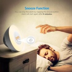 ขาย ซื้อ Wake Up Light Sunrise Sunset Simulation Alarm Clock 7 Colors Atmosphere Lamp Intl จีน
