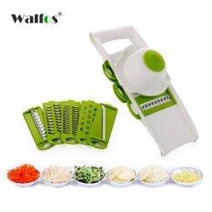 ขาย Walfos แมนโดลินเครื่องตัดผักตัดกับ 5 ใบมีดสแตนเลสแครอทเครื่องขูดเครื่องหอม Dicer เครื่องตัดอุปกรณ์ครัว นานาชาติ ออนไลน์ ใน จีน