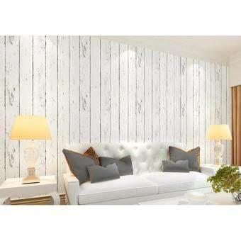 ✅✅วอลเปเปอร์ติดผนัง สติกเกอร์ติดผนัง ส่งkerryแบบด่วนๆ WallpaperStickerติดผนังหน้ากว้าง45เซน/ยาว10เมตรมีกาวในตัว(ลายไม้ขาว)ราคาถูกราคาโรงงาน????