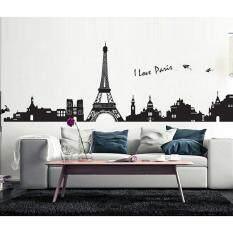 Wallpaper Sticker สติ้กเกอร์ติดผนัง I Love Paris เป็นต้นฉบับ