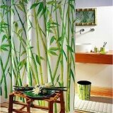 ราคา Waterproof Bathroom Fabric Shower Curtain Bamboo Tree Natural Landscape 12 Hooks Intl ออนไลน์ จีน