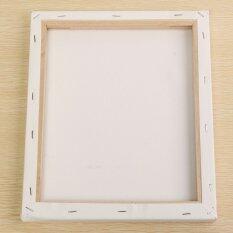 สีขาวสี่เหลี่ยมผืนผ้าใบกรอบไม้สำหรับศิลปินศิลปินอะครีลิคสีน้ำมัน 25x30 เซนติเมตร-สนามบินนานาชาติ.