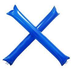 Whyus Inflatable แท่งฟ้าร้องบาง Cheer Boom เครื่องทำเสียงบาสเกตบอลที่ตบเชียร์ฟุตบอล (สีฟ้า).