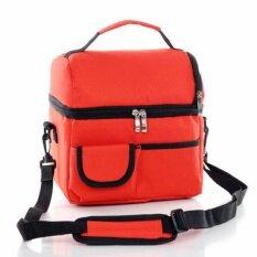 ราคา Wins กระเป๋าเก็บความร้อนและเย็น เพื่อความสดใหม่ของอาหาร มาพร้อมสายสะพาย สีแดง ที่สุด