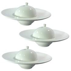 ขาย ซื้อ Wipapha ชุดจานชามมีฝาครอบ โบนไชน่า ใส่ซุป 9 5 นิ้ว 3ชิ้น ใน กรุงเทพมหานคร