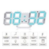 ขาย Womdee 3D Digital Alarm Clock 3 Adjustable Brightness Levels Led Wall Clock With Date And Temperature Display For Home Bedroom Office Intl Womdee เป็นต้นฉบับ