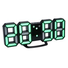 ขาย Womdee 3D Digital Clock Electronic Wall Clock 24 12 Hour Display 3 Brightness Levels Dimmable Led Clock Decor Electronic Alarm Clock Green Intl จีน ถูก
