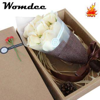 Womdee 7 Packs Soap Rose Flower With Gift Box Plant Essential Oil Rose Soap Set Guest Soap Gifts For Valentine Mother Wedding Christmas Birthday Party Decoration - intl