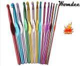 ราคา Womdee Alumina Handle Single Pointed Crochet Hook Needle Set For Weave Knitting Multi Color Set Of 14Pcs Intl ใน จีน