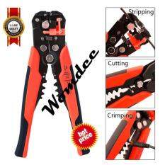 ซื้อ Womdee Wire Stripping Tool Self Adjusting Cable Cutter Crimper Automatic Wire Stripper Cutting Pliers Tool For Industry 10 22 Awg Stranded Wire Cutting Intl ถูก ใน จีน