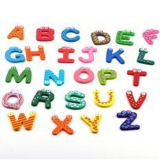 ขาย Wooden Magnet Baby Toy A Z Abc Educational Alphabet เป็นต้นฉบับ