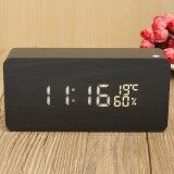 ราคา Wooden Rectangular Led Digital Alarm Clock Display Time Temperature Humidity Black Wood White Led Intl Unbranded Generic ใหม่
