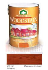 ราคา Woodtect สีย้อมไม้ วูดเทค ชนิดเงา เบอร์ Wg 102 Mahogany สีไม้มะฮอกกานี ชนิดเงา กระป๋องทอง ขนาด 1 4 กล 9 ลิตร Woodtect ออนไลน์