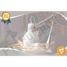 โปรโมชั่น Work Lamp โคมไฟ โคมไฟตั้งโต๊ะ โคมไฟอ่านหนังสือ โคมไฟโต๊ะทำงาน โคมไฟเหล็กพ่นสีฝุ่น รุ่น เทร์ทิออล สีขาว ไม่รววมหลอดไฟ ถูก