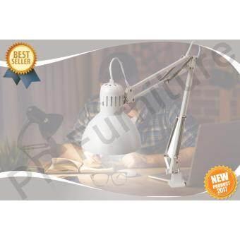Work lamp โคมไฟ โคมไฟตั้งโต๊ะโคมไฟอ่านหนังสือ โคมไฟโต๊ะทำงาน โคมไฟเหล็กพ่นสีฝุ่น รุ่น เทร์ทิออล - สีขาว(ไม่รววมหลอดไฟ)