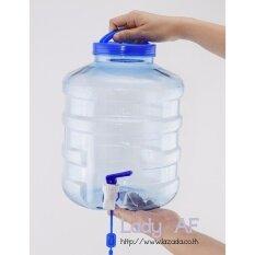 ซื้อ Wpower ถังน้ำดื่ม ขนาด 8 ลิตร รุ่น ถังน้ำโพลีเอทธิลีนเทเรฟทาเลต ทรงกลมมีก๊อกและด้ามหูหิ้วบนฝา สีฟ้าใส Wpower ออนไลน์