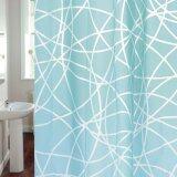 ซื้อ ม่านห้องน้ำ Wsp รุ่นScp 45 Eva015 พื้นสีฟ้าลายเส้นขาว ใหม่