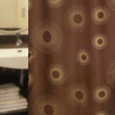 ราคา ม่านผ้าห้องน้ำ Wsp รุ่น Scp 8 S1074 พื้นสีน้ำตาพิมพ์ลายวงกลม ใน Thailand