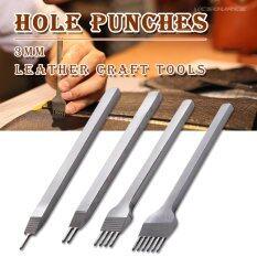 ซื้อ Xcsource ชุดอุปกรณ์เจาะหนัง ขนาด 3Mm Set Of 4 Leather Craft Tool Hole Punches Stitching Tool 1 2 4 6 Prong ออนไลน์ ฮ่องกง