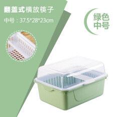 ซื้อ การจัดเก็บกล่องพลาสติกชั้นวางจานที่มีฝาปิดจานตู้ระบายน้ำ ถูก