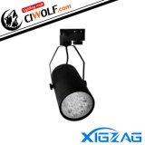 Xigzag Led Track Light 12X1W แสงวอมไวท์ Ww โคมดำ ไทย